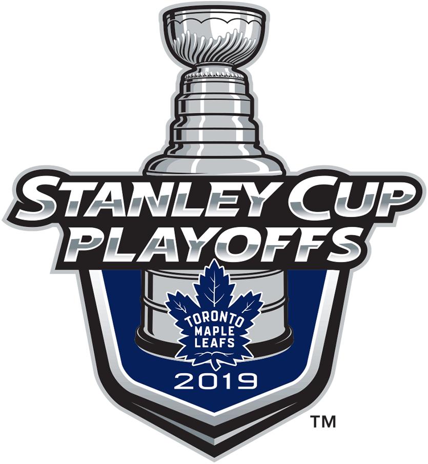 Toronto Maple Leafs Logo Event Logo (2018/19) - Toronto Maple Leafs 2019 Stanley Cup Playoffs Logo SportsLogos.Net