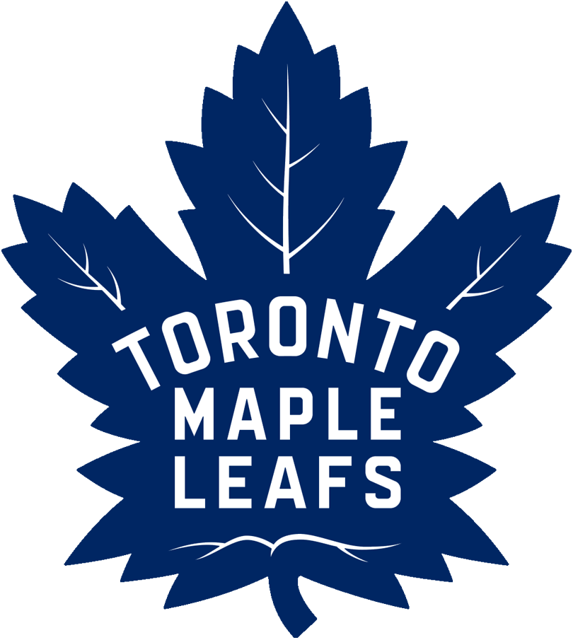 Toronto Maple Leafs Logo Primary Logo (2016/17-Pres) - 31-point blue maple leaf with 17-veins and team name in white on leaf SportsLogos.Net