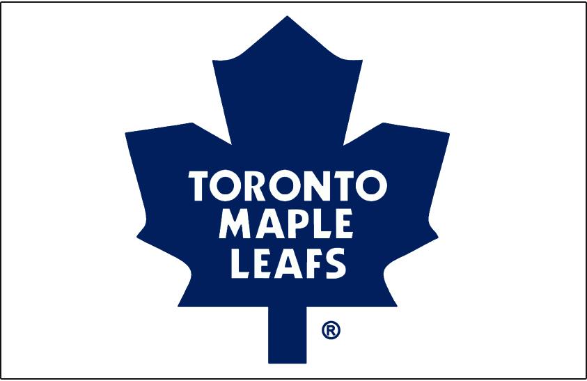 Toronto Maple Leafs Logo Jersey Logo (1987/88-2015/16) - Blue modern maple leaf, worn on Toronto Maple Leafs home white jersey from 1987-88 through 2002-03 and their road white jersey since 2003-04 SportsLogos.Net