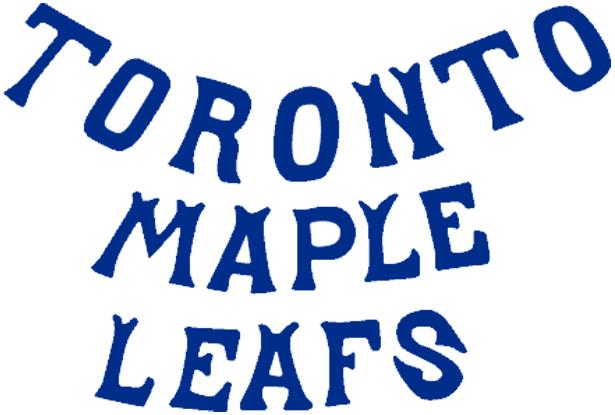 Toronto Maple Leafs Logo Wordmark Logo (1927/28-1937/38) -  SportsLogos.Net