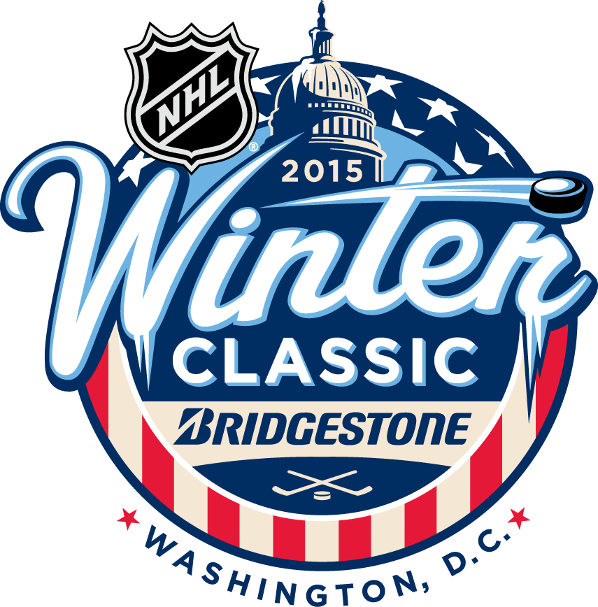 NHL Winter Classic Logo Primary Logo (2014/15) - 2015 NHL Winter Classic at Nationals Park in Washington, DC - Chicago Blackhawks vs Washington Capitals SportsLogos.Net