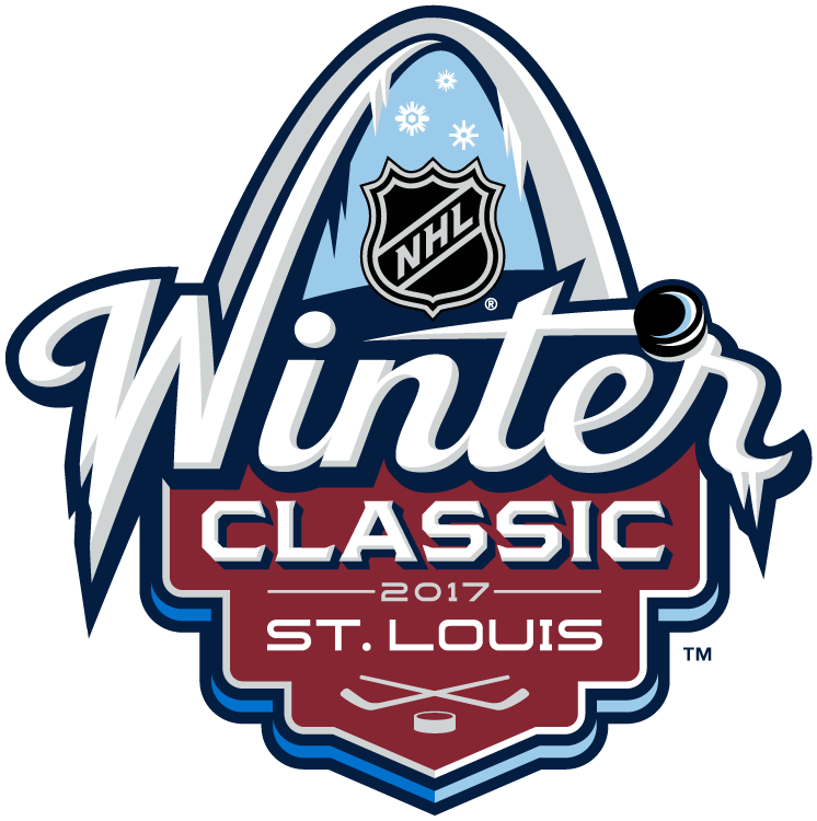 NHL Winter Classic Logo Primary Logo (2016/17) - 2017 NHL Winter Classic at Busch Stadium in St. Louis, Missouri. St. Louis on January 2, 2017. St. Louis Blues VS Chicago Blackhawks  SportsLogos.Net