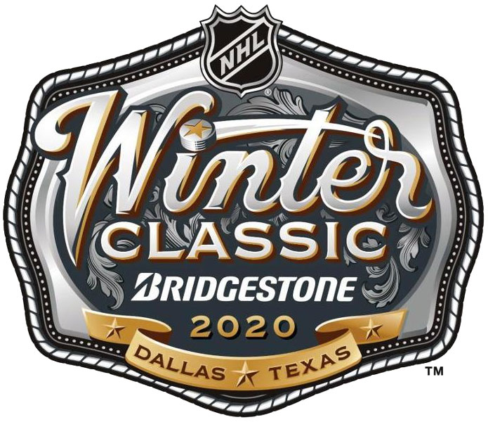 NHL Winter Classic Logo Primary Logo (2019/20) - 2020 NHL Winter Classic Logo - Game played at Dallas, Texas Cotton Bowl on January 1, 2020 between Stars and Nashville Predators SportsLogos.Net