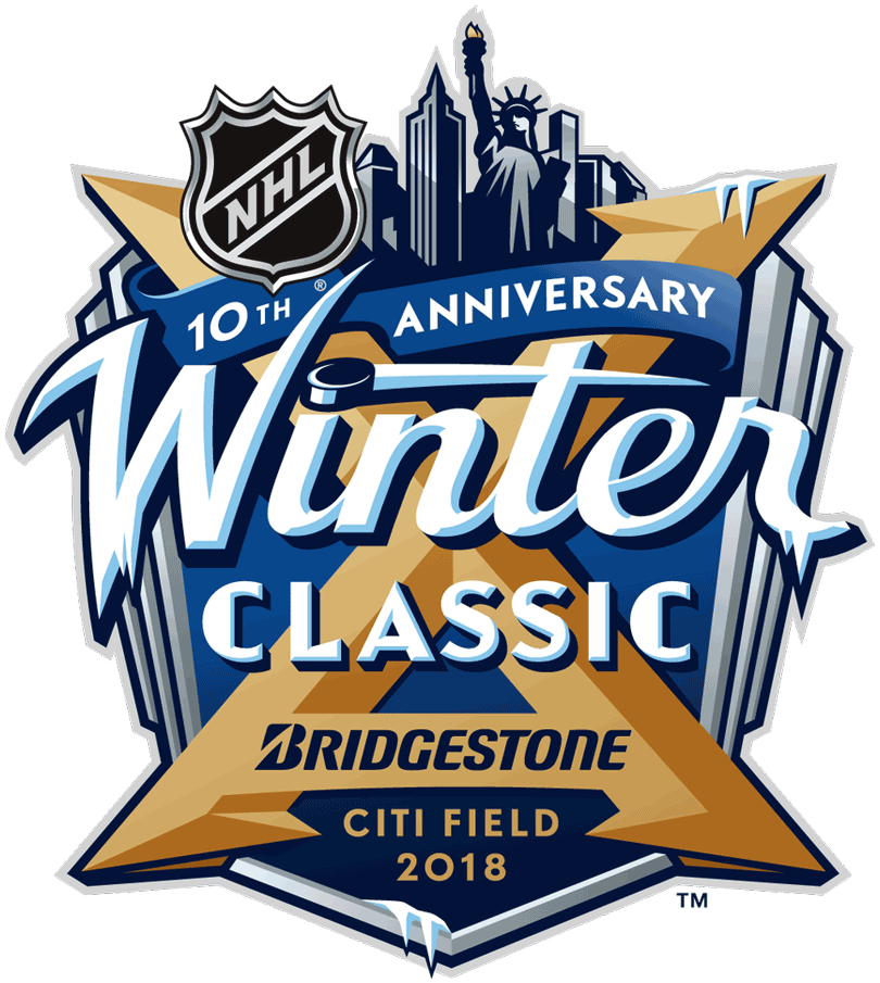 NHL Winter Classic Logo Primary Logo (2017/18) - 2018 NHL Winter Classic logo, game played between Buffalo Sabres and New York Rangers on January 1, 2018 at CitiField in New York, NY SportsLogos.Net