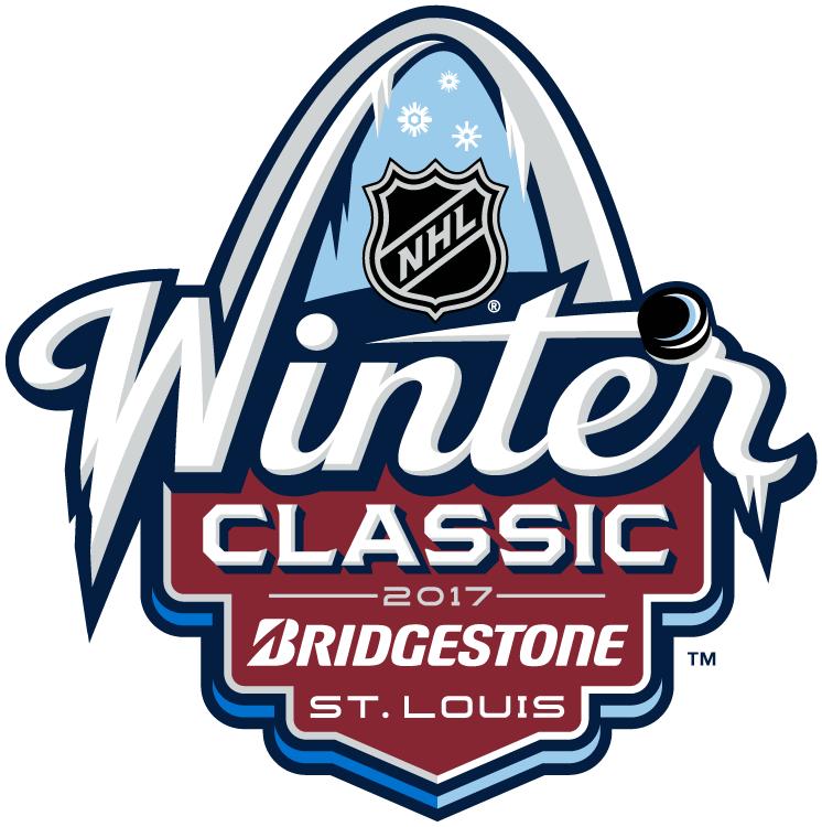 NHL Winter Classic Logo Sponsored Logo (2016/17) - 2017 NHL Winter Classic at Busch Stadium in St. Louis, Missouri. St. Louis on January 2, 2017. St. Louis Blues VS Chicago Blackhawks  SportsLogos.Net