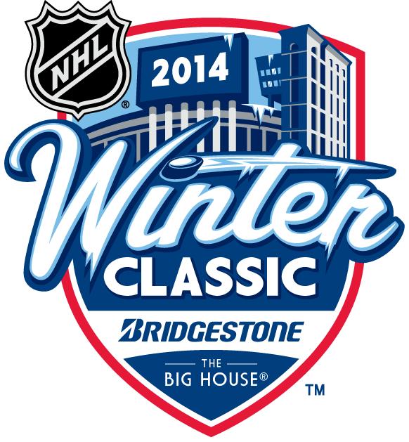 NHL Winter Classic Logo Primary Logo (2013/14) - 2014 Bridgestone NHL Winter Classic - Detroit Red Wings VS Toronto Maple Leafs at Michigan Stadium in Ann Arbor, Michigan - January 1, 2014 SportsLogos.Net