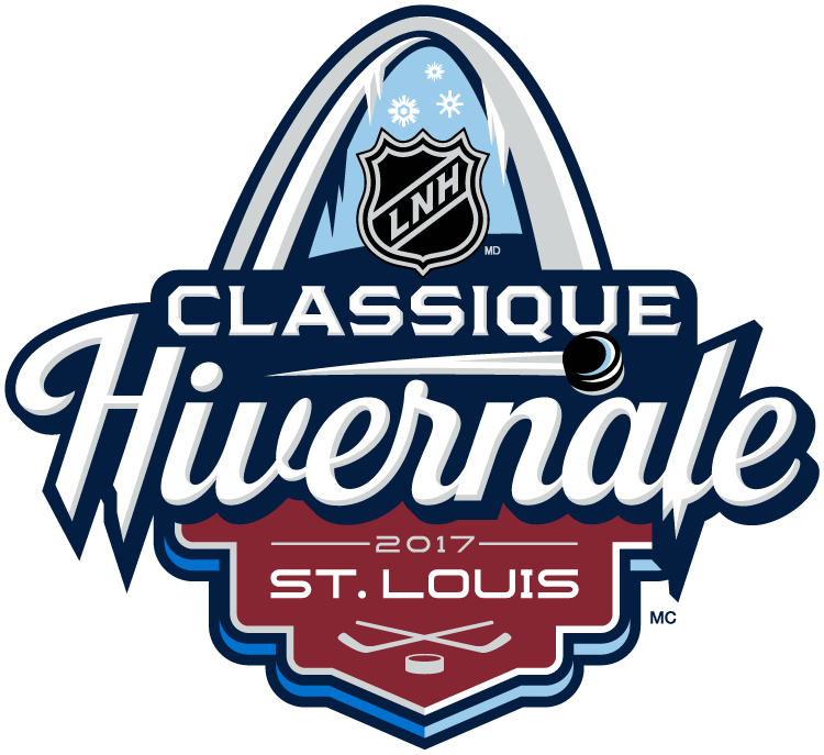NHL Winter Classic Logo Alt. Language Logo (2016/17) - 2017 NHL Winter Classic at Busch Stadium in St. Louis, Missouri. St. Louis on January 2, 2017. St. Louis Blues VS Chicago Blackhawks  SportsLogos.Net