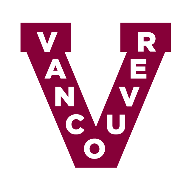 Vancouver Canucks Logo Throwback Logo (2012/13) - A maroon V with Vancouver in white SportsLogos.Net