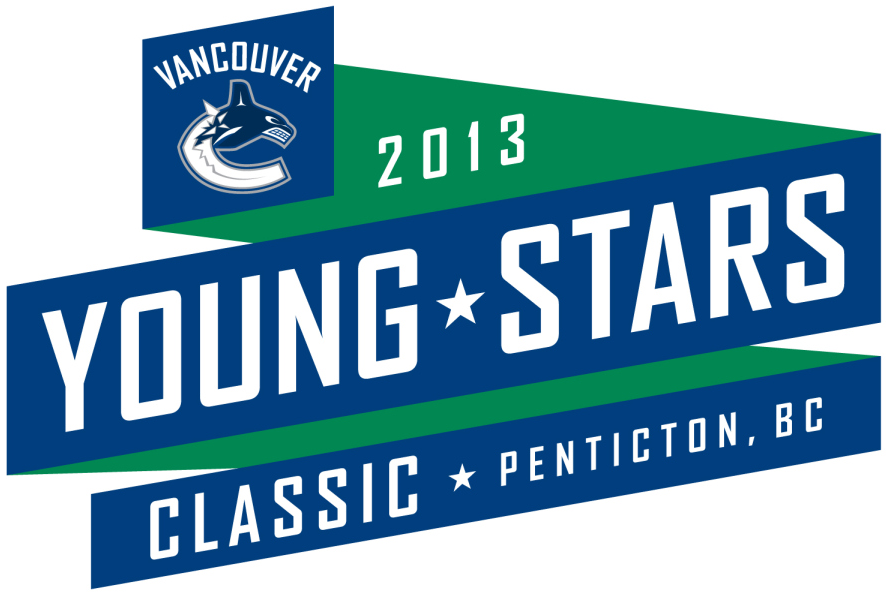 Vancouver Canucks Logo Event Logo (2013/14) - Vancouver Canucks Young Stars Classic will take place September 5-9, 2013 in Penticton, BC. The Young Stars Classic is an annual tournament hosted by the Canucks that showcases their prospects pitted against other participant NHL club's prospects. This year's tournament will include the Edmonton Oilers, Calgary Flames, San Jose Sharks, and the Winnipeg Jets. SportsLogos.Net