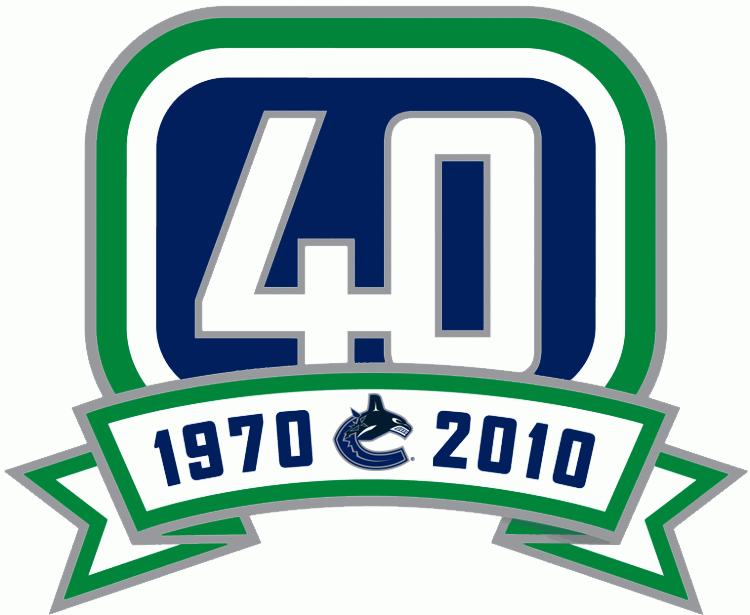 Vancouver Canucks Logo Anniversary Logo (2010/11) - Vancouver Canucks 40th Anniversary Logo SportsLogos.Net