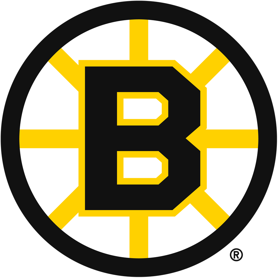 Boston Bruins Logo Primary Logo (1949/50-1994/95) - Referred to either as the