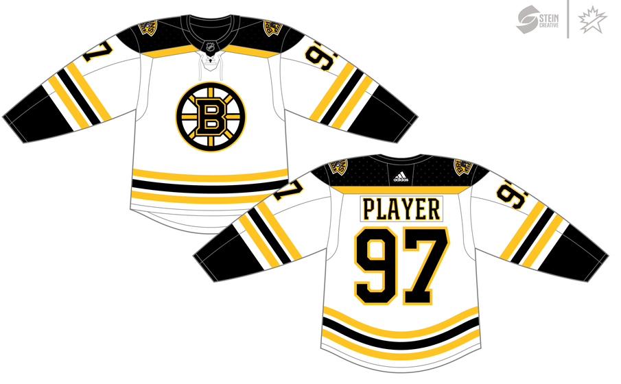 differently 74f68 612d3 Boston Bruins Light Uniform - National Hockey League (NHL ...
