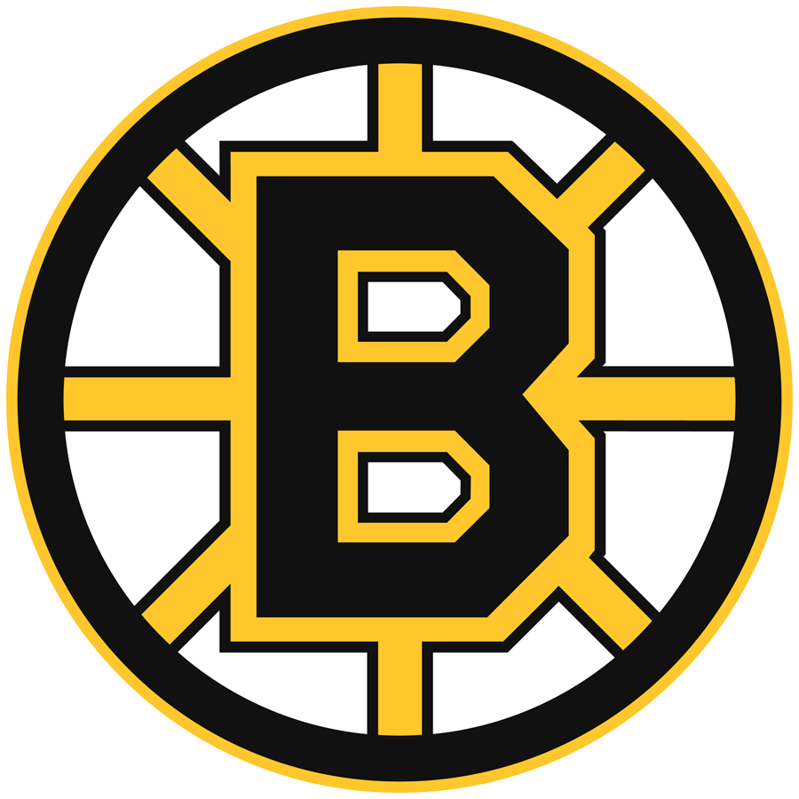 Boston Bruins Logo Primary Logo (1995/96-2006/07) - As the club moved out of the famous Boston Garden, the Bruins made a slight update to their logo and colours. The spokes on the logo were now trimmed in black and the outside of the logo now had an additional gold outline. The shade of gold was also darkened throughout. Boston used this logo from 1995-96 until 2007 when it was updated slightly once more. SportsLogos.Net