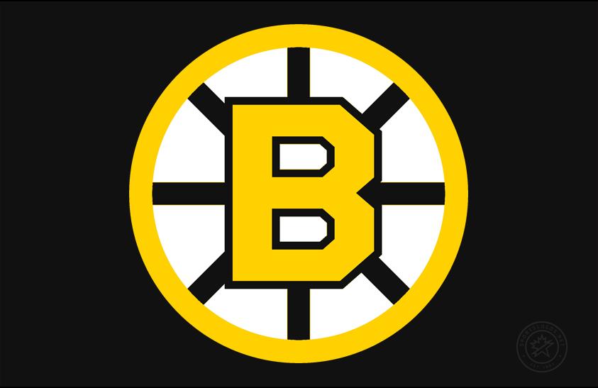 Boston Bruins Logo Primary Dark Logo (1949/50-1994/95) - Referred to either as the