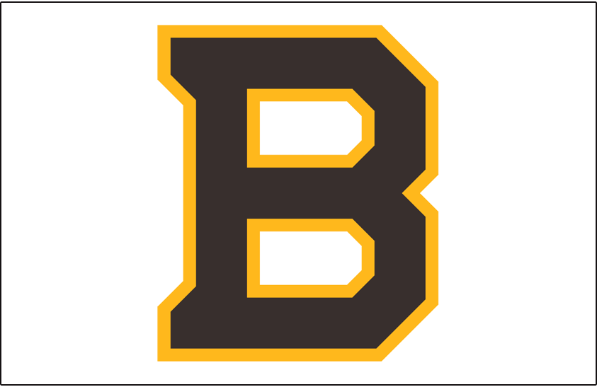 Boston Bruins Logo Special Event Logo (2018/19) - Boston Bruins 2019 Winter Classic jersey logo - a brown B trimmed in gold on white SportsLogos.Net