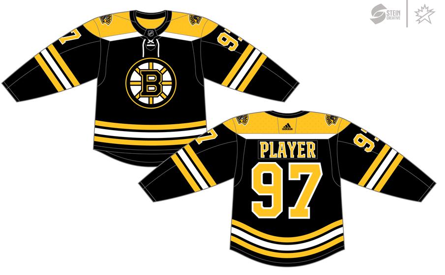 Boston Bruins Uniform Dark Uniform (2017/18-Pres) - Adidas Jersey SportsLogos.Net