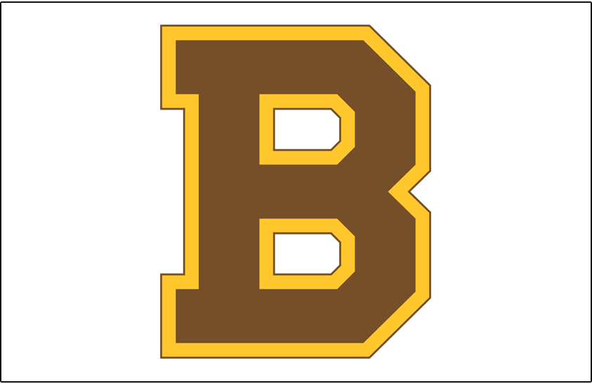 Boston Bruins Logo Jersey Logo (1932/33-1933/34) - Brown and yellow B on white, worn on the front of the Boston Bruins jersey in the 1932-33 and 1933-34 seasons SportsLogos.Net