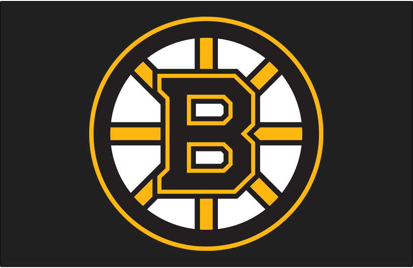 Boston Bruins Logo Jersey Logo (2007/08-Pres) - A black and yellow spoked B on black, worn on the Boston Bruins home jersey beginning with the 2008-09 season SportsLogos.Net