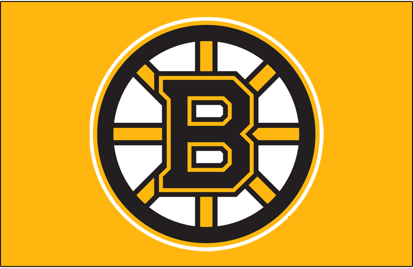 Boston Bruins Logo Primary Dark Logo (2007/08-Pres) - For the 2007-08 season the Boston Bruins updated their famous spoked B logo (shown here on gold) once again, the third time it had been altered since it was first introduced in 1949. Still showing a black