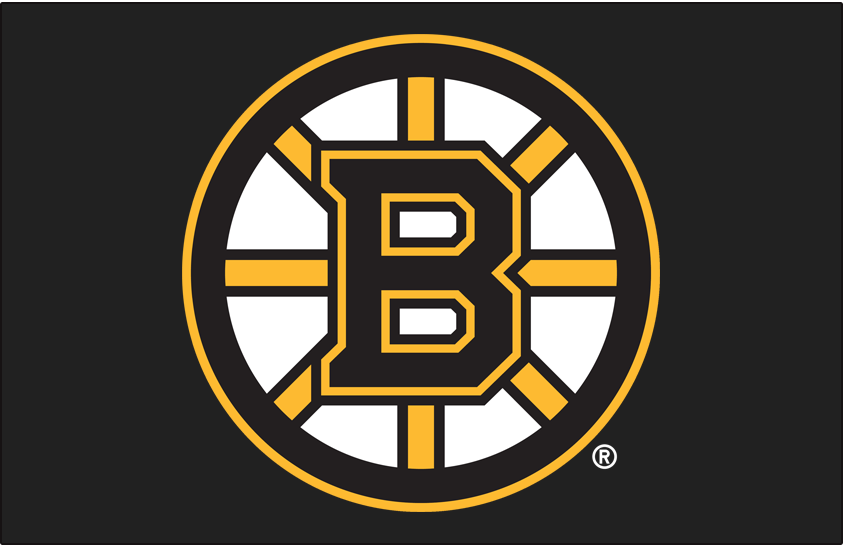 Boston Bruins Logo Primary Dark Logo (2007/08-Pres) - For the 2007-08 season the Boston Bruins updated their famous spoked B logo (shown here on black) once again, the third time it had been altered since it was first introduced in 1949. Still showing a black