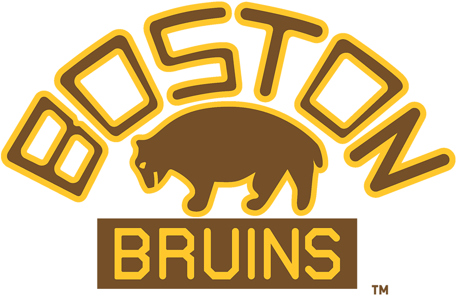 Boston Bruins Logo Primary Logo (1926/27-1931/32) - A slightly updated version of their original logo, the Boston Bruins adopted their second logo in team history for the 1926-27 season. Like its predecessor the logo showed a brown bear below BOSTON arched above and BRUINS written below but did so with a new font. The Bruins used this logo until 1932, during which they won the team's first Stanley Cup in 1929. SportsLogos.Net