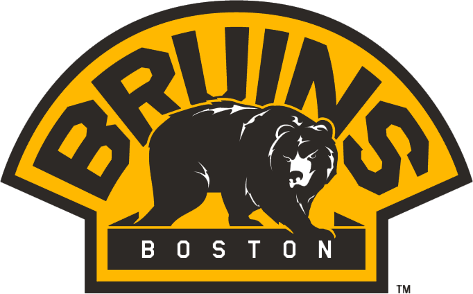 Boston Bruins Logo Alternate Logo (2007/08-Pres) - A bear walking below 'BRUINS' in a yellow semi-circle SportsLogos.Net