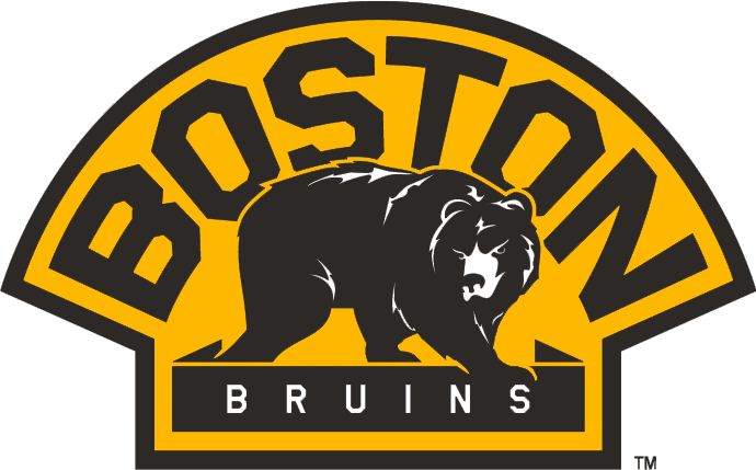 Boston Bruins Logo Alternate Logo (2007/08-Pres) - A bear walking below 'BOSTON' in a yellow semi-circle SportsLogos.Net