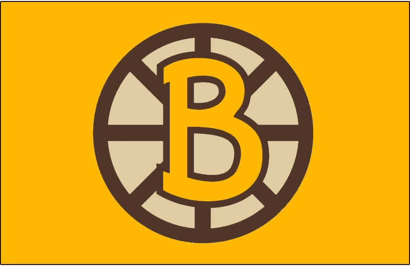 Boston Bruins Logo Throwback Logo (2009/10) - Throwback-inspired logo (based off of the 25th anniversary logo from 1948-49), worn on the front of the yellow Boston Bruins 2010 Winter Classic jersey on January 1, 2010. SportsLogos.Net