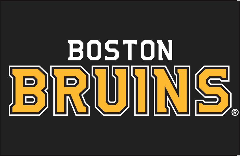 Boston Bruins Logo Wordmark Logo (2007/08-Pres) - Boston Bruins in matching font to updated