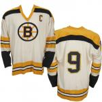 Boston Bruins (1974) Johnny Bucyk 1973-74 season Boston Bruins home jersey with 50th anniversary patch on both shoulders