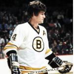 Boston Bruins (1975) Bobby Orr in the Boston Bruins home uniform during 1974-75 season