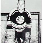 Boston Bruins (1963) Bob Perreault wearing Boston Bruins alternate uniform during 1962-63 season