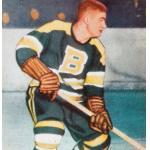 Boston Bruins (1953) Fleming Mackell wearing Boston Bruins uniform during 1952-53 season