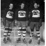 Boston Bruins (1929) Eddie Shore, George Owen, and Lionel Hitchman of the Boston Bruins during the 1928-29 season