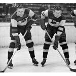 Boston Bruins (1935) Dit Clapper of the Boston Bruins (left) during the 1934-35 season