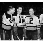 Boston Bruins (1937) Boston Bruins players before a game during the 1936-37 season