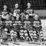 Boston Bruins (1931) Members of the Boston Bruins pose for a team photo during 1930-31 season