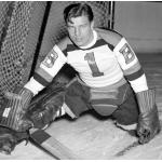 Boston Bruins (1941) Frank (Mr Zero) Brimsek in goal for the Boston Bruins in the 1940-41 season