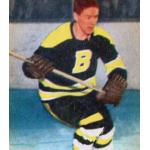 Boston Bruins (1954) Leo Labine of the Boston Bruins wearing the Bruins black uniform in 1953-54