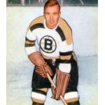 Boston Bruins (1950) Bill Quackenbush of the Boston Bruins wearing the Bruins white uniform in 1949-50
