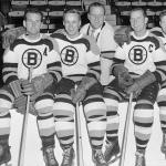 Boston Bruins (1952) Boston Bruins players in the white uniform during 1951-52 season