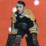Boston Bruins (1970) Ed Johnston wearing the Boston Bruins black home jersey during the 1969-70 season