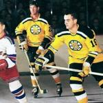 Boston Bruins (1965) Murray Oliver of the Boston Bruins in the Bruins yellow uniform from 1964-65