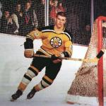 Boston Bruins (1967) Bobby Orr wearing the yellow Boston Bruins jersey (with number 24) during the 1966-67 pre-season