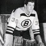 Boston Bruins (1966) Bernie Parent wearing the Boston Bruins white uniform during 1965-66 season