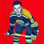 Boston Bruins (1965) Ted Green wearing the Boston Bruins black uniform during 1964-65 season
