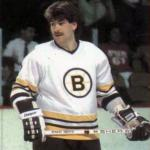 Boston Bruins (1984) Ray Bourque wearing the Boston Bruins white uniform during the 1983-84 season