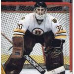 Boston Bruins (1987) Bill Ranford wearing the Boston Bruins white uniform during the 1986-87 season