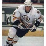 Boston Bruins (1988) Cam Neely wearing the Boston Bruins white uniform during the 1987-88 season
