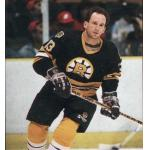 Boston Bruins (1989) Ken Linsman wearing the Boston Bruins black uniform during the 1988-89 season